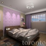 Interior bedroom design rendering