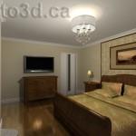 Interior visualization bedroom design illustration