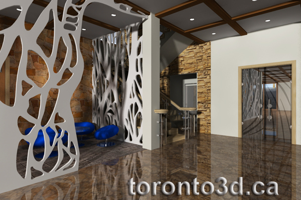 3d Archiitectural Visualization Interior Design Living Room  Modern Style Toronto Part 60