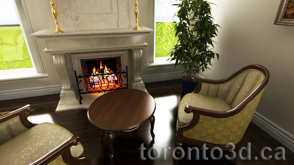 Interior rendering bedroom design
