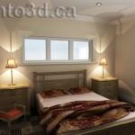 Interior rendering bedroom design illustration